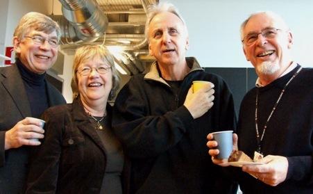 Fyra glada pensionärer